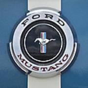 1966 Shelby Gt 350 Emblem Gas Cap Art Print