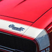 1967 Chevrolet Camaro Ss 350 Convertible Hood Emblem Art Print