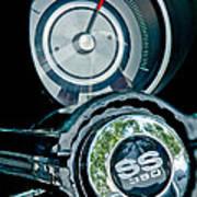 1967 Chevrolet Camaro  Ss Steering Wheel Emblem Emblem Art Print