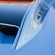 1967 Chevrolet Corvette 427 Hood Emblem 3 Art Print