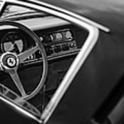 1967 Ferrari 275 Gtb-4 Berlinetta Steering Wheel Print by Jill Reger