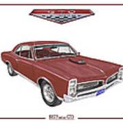 1967 G T O Pontiac Art Print