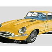 1967 Jaguar X K E Coupe Art Print