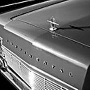 1967 Lincoln Continental Hood Ornament - Emblem -646bw Art Print