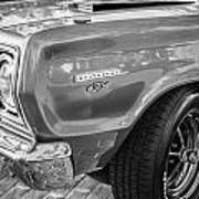 1967 Plymouth Belvedere Gtx 440 Painted Bw   Art Print