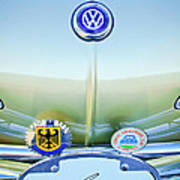 1967 Volkswagen Vw Karmann Ghia Hood Emblem Art Print