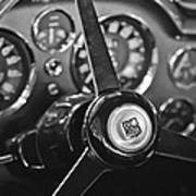 1968 Aston Martin Steering Wheel Emblem Art Print
