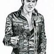 1968 Black Leather Suit Art Print