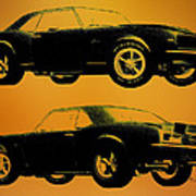1968 Camaro Ss Side View Art Print