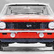 1968 Chevy Camaro Ss Watercolor 1968 Art Print