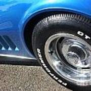 1968 Corvette Sting Ray - Blue - Side - 8923 Art Print