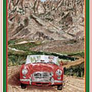 Mountain Rallying In A 1968 M G B  Art Print