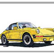 1968 Porsche Targa Art Print