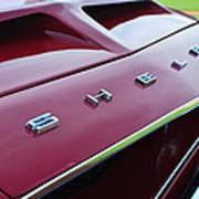 1968 Shelby Gt350 Hood Emblem Art Print