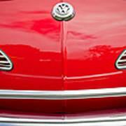 1968 Volkswagen Karmann Ghia Convertible Hood Emblem Art Print