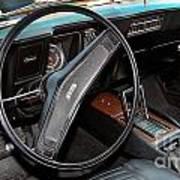 1969 Chevrolet Camaro Rs - Orange - Interior - 7601 Art Print