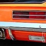 1969 Chevrolet Camaro Rs - Orange - Rear End - 7609 Art Print