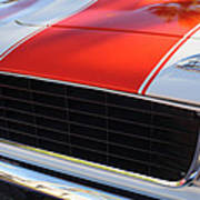 1969 Chevrolet Camaro Rs-ss Indy Pace Car Replica Grille - Hood Emblems Art Print