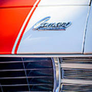 1969 Chevrolet Camaro Rs-ss Indy Pace Car Replica Hood Emblem Art Print