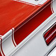1969 Chevrolet Camaro Ss Indianapolis 500 Pace Car Rear Shot Art Print