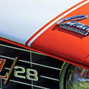 1969 Chevrolet Camaro Z-28 Emblem Art Print