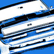 1969 Chevy Camaro Ss - Blue Negative Art Print
