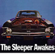 1969 Chevy Nova Ss - The Sleeper Awakes Art Print