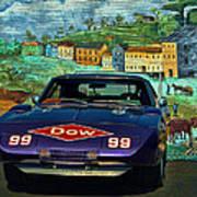 1969 Dodge Daytona Stock Car Replica Art Print
