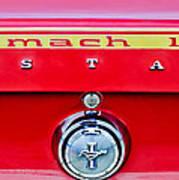 1969 Ford Mustang Mach 1 Rear Emblems Art Print