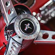 1969 Ford Mustang Mach 1 Steering Wheel Art Print