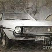 1969 Ford Mustang Art Print