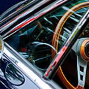 1969 Lamborghini Islero Steering Wheel Emblem Art Print