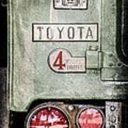 1969 Toyota Fj-40 Land Cruiser Taillight Emblem -0417ac Art Print