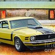 1970 Boss 302 Mustang Art Print