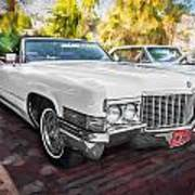 1970 Cadillac Coupe Deville Convertible Painted  Art Print