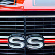 1970 Chevrolet Chevelle Ss 454 Grille Emblem Art Print by Jill Reger