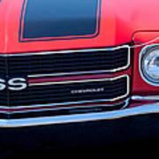 1970 Chevrolet El Camino Ss Grille Emblem Art Print
