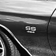 1970 Chevy Chevelle 454 Ss Bw  Art Print