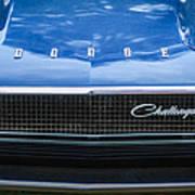 1970 Dodge Challenger Rt Convertible Grille Emblem -0545c Art Print
