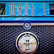 1970 Ford Mustang Gt Mach 1 Emblem Art Print