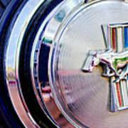 1970 Ford Mustang Mach 1 Emblem Art Print