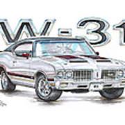 1970 Oldsmobile W-31 Art Print