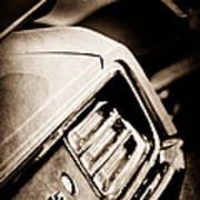 1970 Pontiac Barracuda Cuda Taillight Emblem Art Print