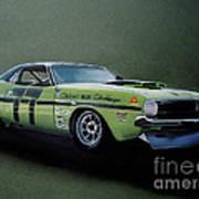 1970's Challenger Race Car Art Print