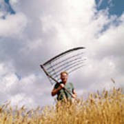 1970s Man Farmer Field Hand Wearing Art Print