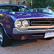 1971 Challenger Front And Side View Art Print