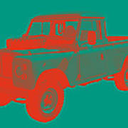 1971 Land Rover Pick Up Truck Modern Art Art Print
