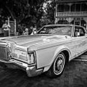 1971 Lincoln Continental Mark IIi Painted Bw   Art Print