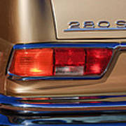 1971 Mercedes-benz 280se 3.5 Cabriolet Taillight Emblem Art Print