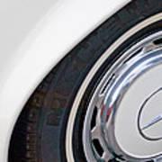 1971 Mercedes-benz Wheel Emblem Art Print